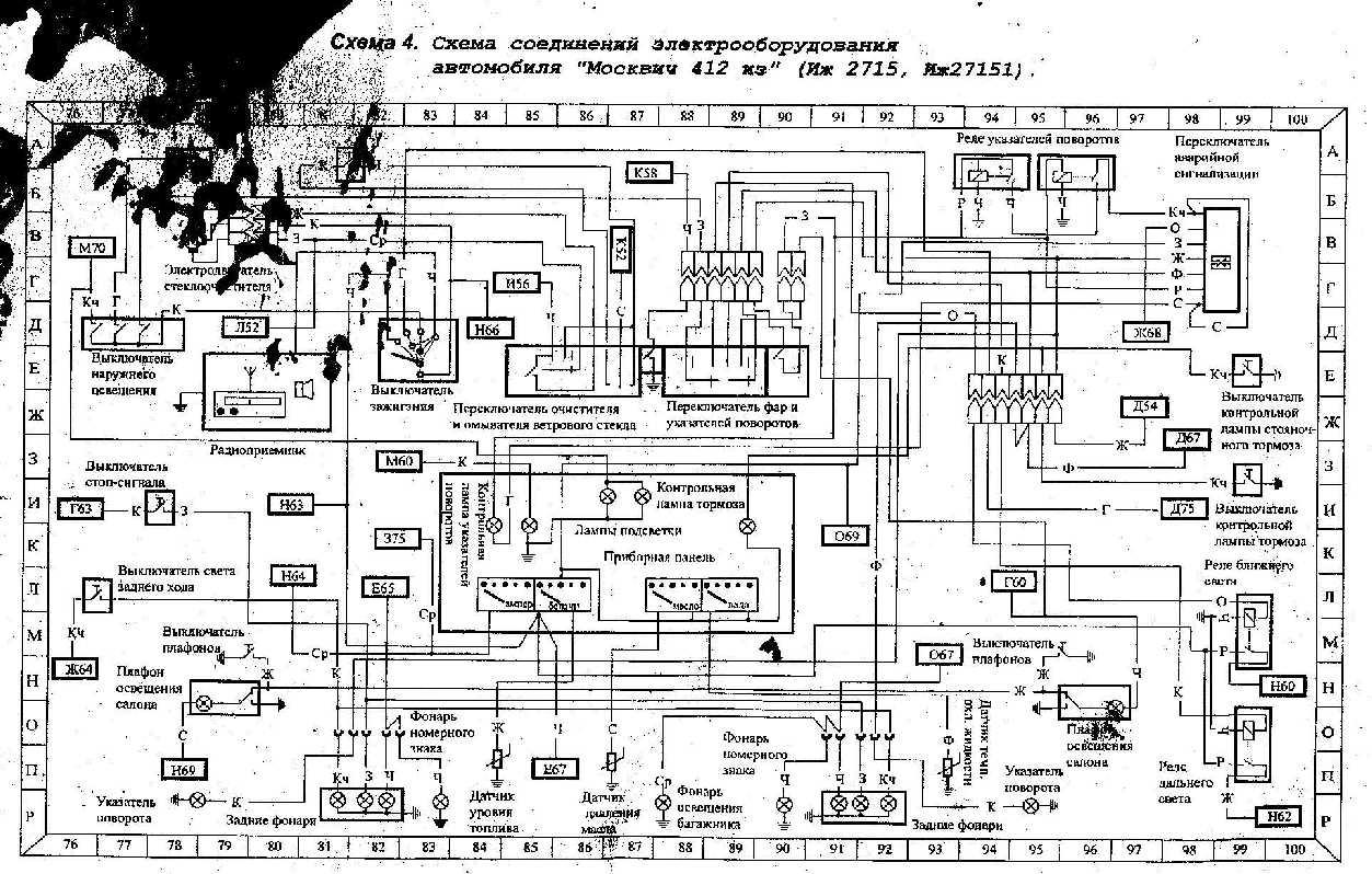 электросхема москвичи иж